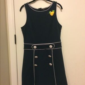 Vintage Mod Tiki Mini Dress